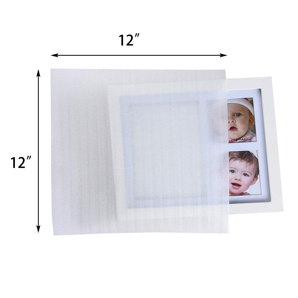 """60 pcs Porcelain /& Fragile Items 0.75mmThickness Extra 5 Pack Fragile Stickers Labels Glasses 60 Pack 12/""""x 12 Foam Wrap Cushion Pouches for Moving - Protect Dishes Packing by ZMYBCPACK"""