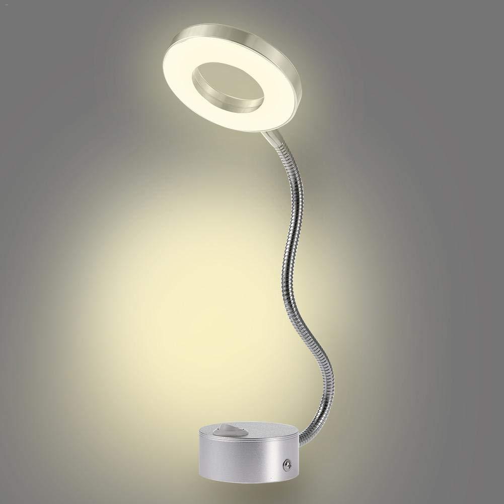 Gold Happy 5W LED Hoses Wall Lamp Flexible Home Hotel Bedside Reading Table Lamp Wall Light Modern Fashion Book Lights Aluminum LED Bulbs