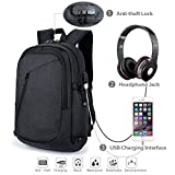 Laptop Backpack,Business Travel Bag with USB Charging Port, Headphone slot, and Built-in Code Lock Compartment, Water Resistant Computer or book bag Fits Up to 15.6 Inch Laptop/note for work/college
