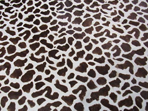 Giraffe Cowhide Rug Size: 7.4' X 6.4' Printed Giraffe Cowhide Rug F-576