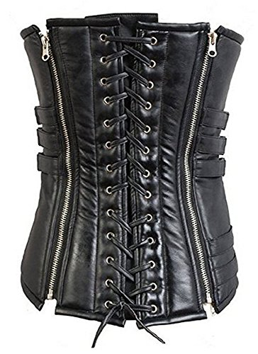 Costumes Corset Custom (Selene Corset Halloween Cosplay Costume Black PU Vest for Women)
