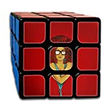 AVABAODAN Lonely Afro Girl Rubik's Cube 3D Printed 3x3x3 Magic Square Puzzles Game Portable Toys-Anti Stress For Anti-anxiety Adults Kids