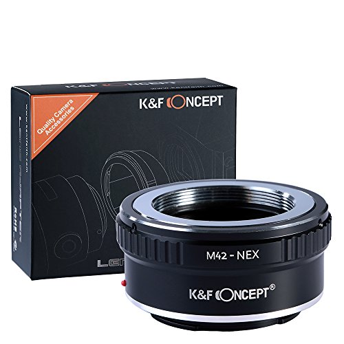 m42 to e mount, K&F Concept Lens Mount Adapter M42 Lens to Sony NEX E-Mount Camera for Sony Alpha NEX-7 NEX-6 NEX-5N NEX-5 NEX-C3 (M42 Mount)