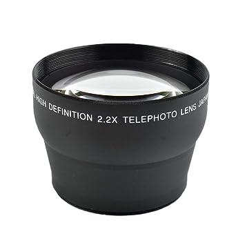 Yuhtech - Conversor de telefono de 58 mm y 2,2 x para cámara ...