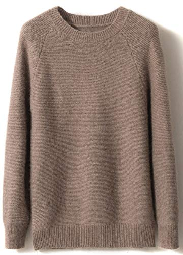 women s winter cashmere knitted crewneck long