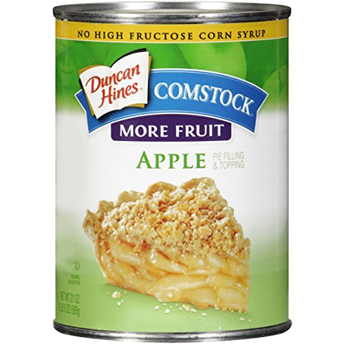 Comstock More Fruit Pie Filling & Topping, Apple, 21 Ounce (Pack of 12)