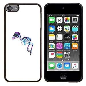 Jordan Colourful Shop - X Ray Emu Bird For Apple iPod Touch 6 6th Generation Personalizado negro cubierta de la caja de pl????stico