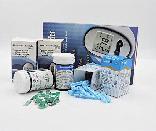 New-Blood-Glucose-Meter-With-Blood-Collection-Needle-Test-Strips-50pcs50pcs-Disposables-Blood-Sugar-Meter-Monitor-Diabetics