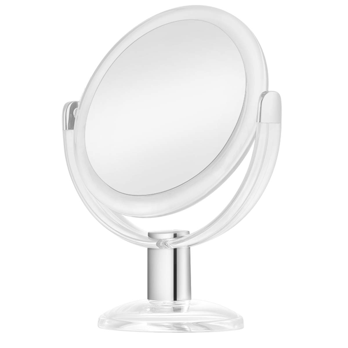 KEDSUM 1X 10X Double Sided Magnifying Makeup Mirror, Vanity Mirror with Magnification and 360 Degree Rotation for Bathroom Bedroom Table Top – White