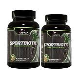 Sportbiotic Vanilla Bonus Pack 1 60 Count Plus 1 Free 6 Count Mini Bottle. Amazing Tasting Chewable Probiotic by AI Sports Nutrition