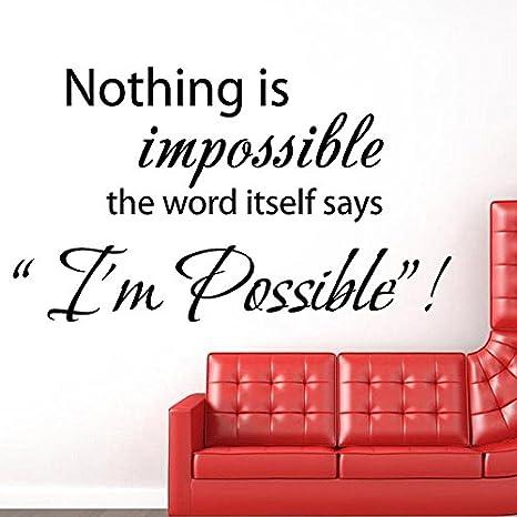Su Da Nulla E Impossibile Adesivi Creativi Della Parete Inglese