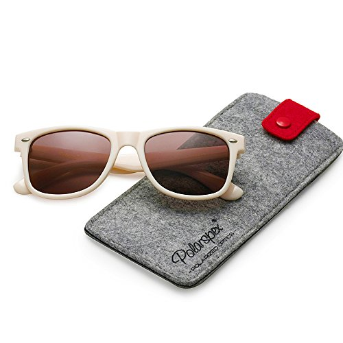 POLARSPEX POLARIZED UNISEX 80'S RETRO CLASSIC TRENDY STYLISH - Sunglasses Beige