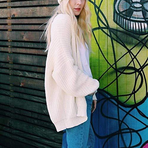 Chandails Sweat Manteau shirts Femmes D'extérieur Cardigan Manches À Tricotés En Printemps Hauts Hiver Amples shirts Fuxitoggo Solides Longues Vrac Vêtements Automne T Pour qS1wnIIA