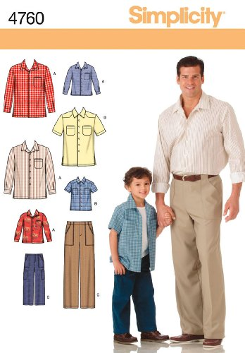 Pinwale Corduroy Shirt (Simplicity Sewing Pattern 4760 Boys and Men Shirts and Pants, A)