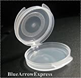 BlueArrowExpress (100) Lacons 1/20 oz ( 0.05 oz ) 1.4 gr - Round Hinged-Lid Plastic Sample Containers for ALL your needs - can be sterilized