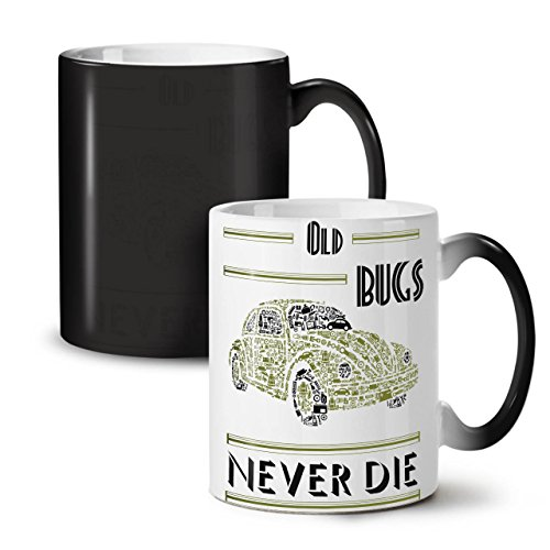 Old Bug Never Die VW Car Black Colour Changing Tea Coffee Ceramic Mug 11 | - In Way Federal Commons