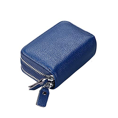 Mengshen RFID Blocking Women Wallets, Excellent Credit Card Holder with Double Zipper Super Large Capacity, PX09 -