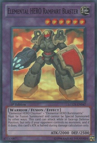 Yu-Gi-Oh! - Elemental HERO Rampart Blaster (LCGX-EN047) - Legendary Collection 2 - Unlimited Edition - Super Rare