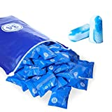 veook Soft Foam Earplugs 100 Pair - 34dB Highest NRR Disposable Comfortable Foam Ear Plugs Noise Reduction for Sleeping, Studying, Snoring, Work, Travel, Concert (Blue)