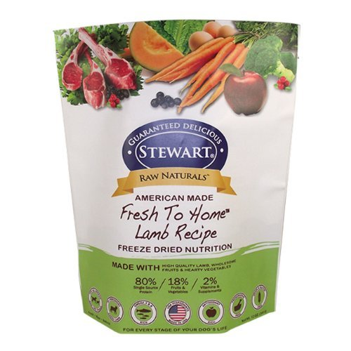Raw Naturals by Stewart Freeze Dried Dog Food in Resealable Pouch, 12-Ounce, Lamb by Stewart by Stewart