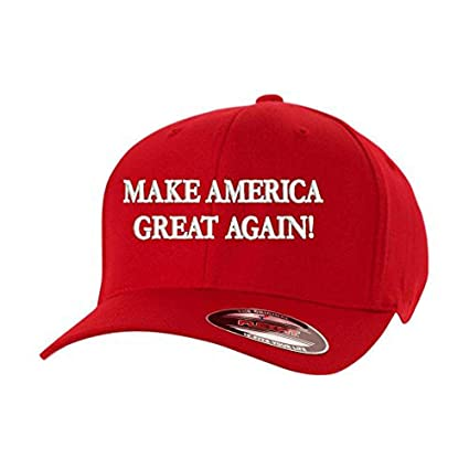 0e5c218713 Amazon.com  Make America Great Again! Donald Trump USA Flexfit Hat Cap   Sports   Outdoors