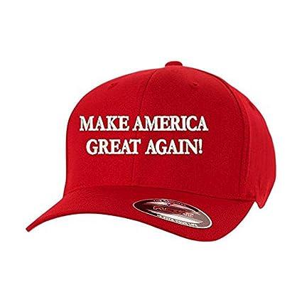 667194616 Make America Great Again! Donald Trump USA Flexfit Hat Cap
