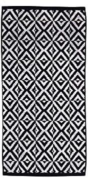 100x150 cm Basic Home Toalla s/ábana algod/ón Jacquard Celtico Negro//Blanco