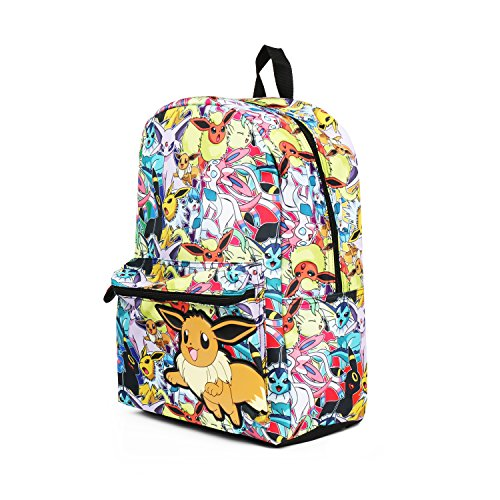 6e9827a5fd6d Pokemon Eevee Evolution All Over Print Backpack School Bag - Import It All