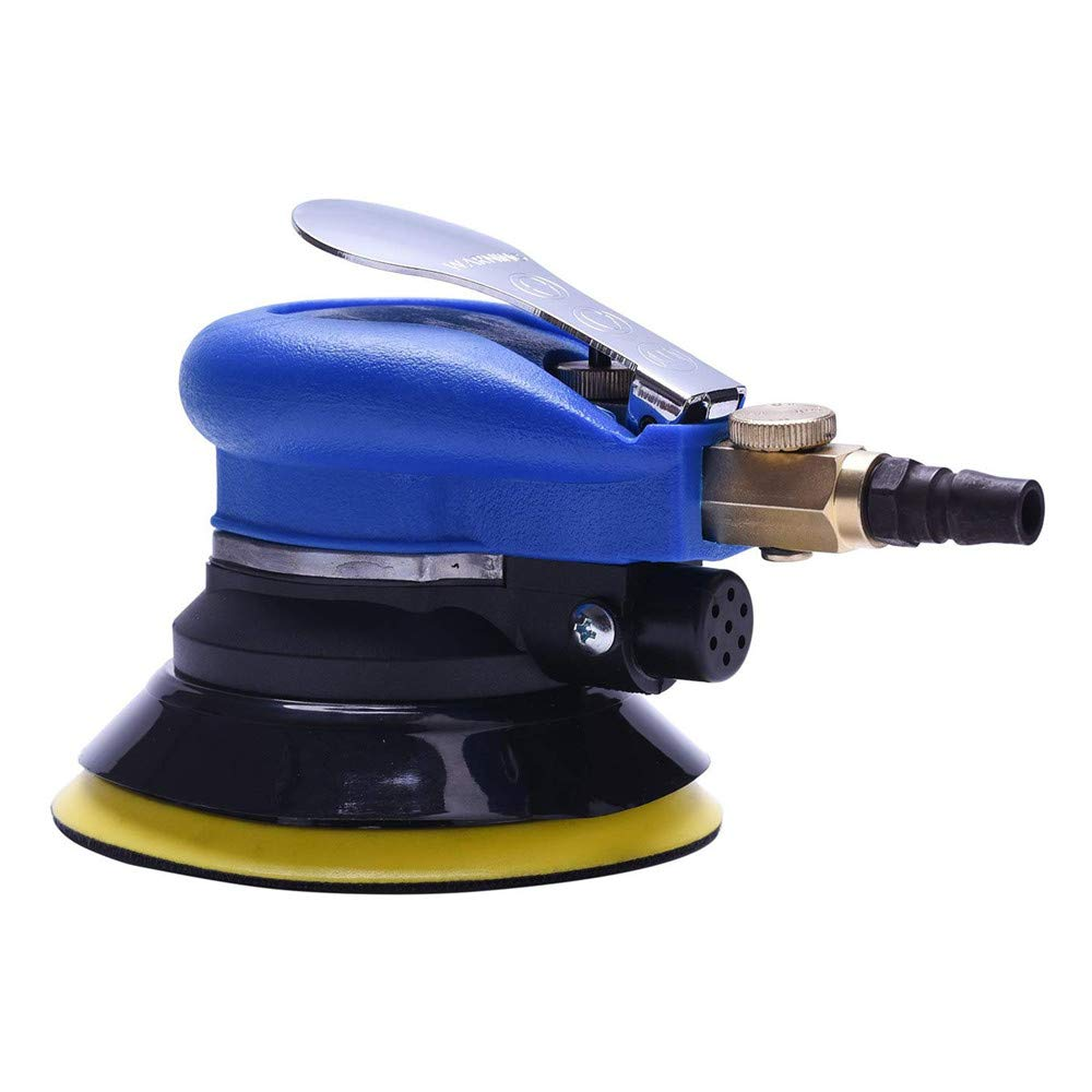 Air Random Orbital Sander, Auto body Automotive Round Polisher Air Tool 5'' Dual Action Palm Sander for Wood Working by LQKYWNA