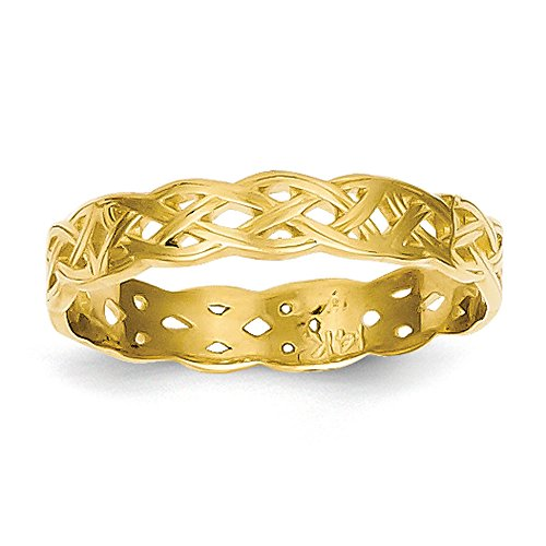 14K Yellow Gold Celtic Knot Band Ring