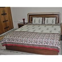 Vintage Cotton King Size Double Bed Spread Duvet Cover
