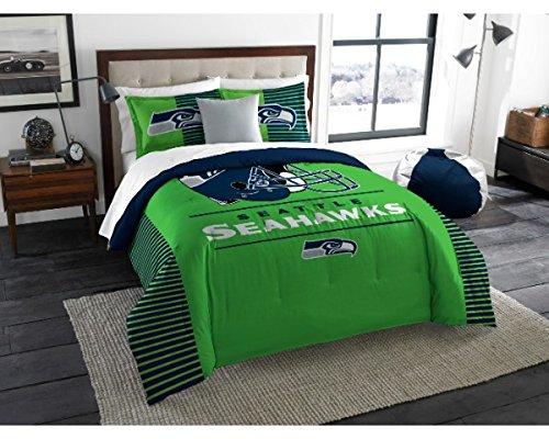 (Northwest Enterprises Seattle Seahawks - 3 Piece King Size Printed Comforter & Shams)
