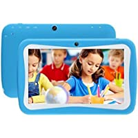 Hometom Tablet PC, 7 Tablet Android 5.1 Quad Core HD 1024x600, Dual Camera Blue-Tooth Wi-Fi, 8GB 3D Game Supported