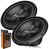 Pair of Pioneer TS-A300D4 12' Dual 4 Ohms Voice Coil Subwoofer - 1500 Watts (2 Subwoofer)