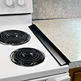 Plum Hill Silicone Stove Counter Gap Covers - Gap Cap Seal (Black)