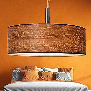 XXL | 55cm | Wohnzimmer Deckenleuchte aus Holz | Natur ...