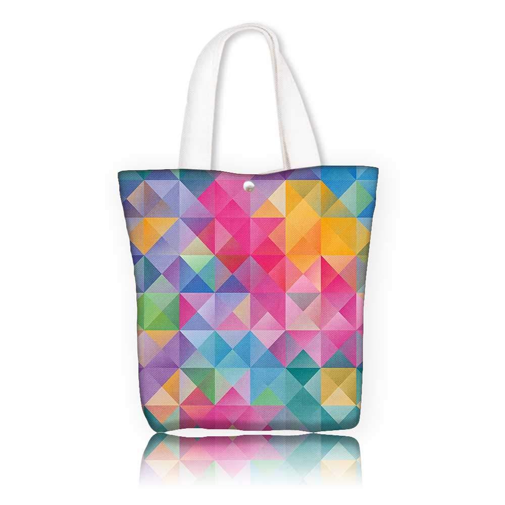 Amazon com: Reusable Cotton Canvas bag -W12 x H7 8 x D3 INCH