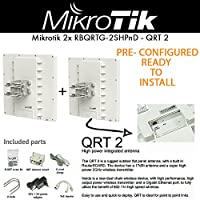 Mikrotik RouterBOARD QRT 2 PRE-CONFIG 2-PACK Outdoor Antenna 2.4Ghz Wireless