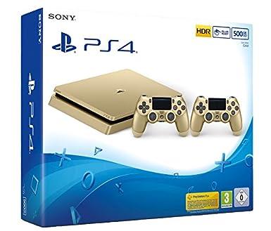 Playstation 4 Konsole 500gb Gold Slim Inkl 2 Dualshock