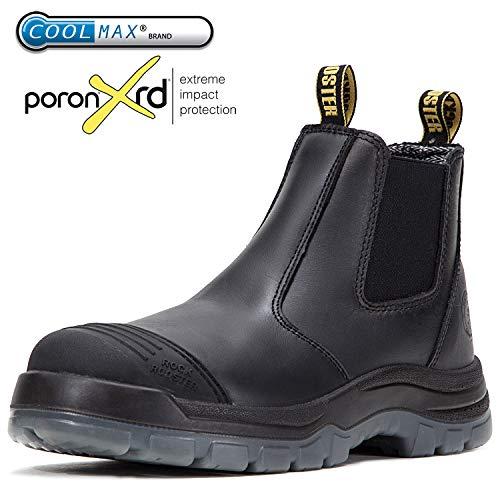 ROCKROOSTER Men's Work Boots Waterproof Slip-Resistant (AK227, US11) by ROCKROOSTER