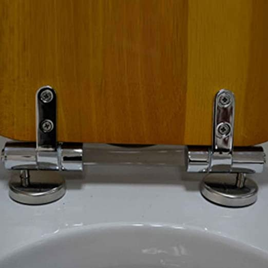 Elenxs Ba/ño Sitio de Resto de Closestool WC Tapa de Cubierta de Asiento para lavamanos de Pedestal Bisagra Gemel Hotel Pan