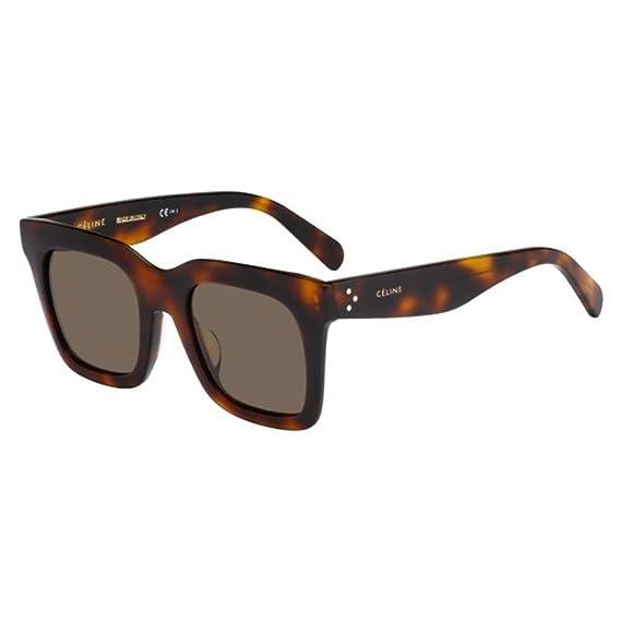2d7aba553e Celine 05L Havana 41411FS Square Sunglasses Lens Category 2  Amazon.co.uk   Clothing