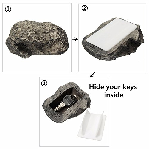 Hiding Spare Keys Outdoor Garden Courtyard Front Door Hidden Rock Key Box,Hiding Outdoor Garden Durable Quality Keys Hide in a Fake Stone Security Safe Storage Looks /& Feels Like Real Stone dingchimo