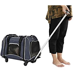 "Petsfit Foldable Pet/Dog/Cat Stroller with Removable Wheels and Mat 23""Lx13W""x14H"""