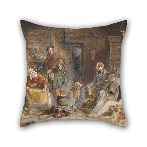 oil-painting-john-frederick-lewis-highland-hospitality-cushion-covers-best-for-relativesloungehomeho
