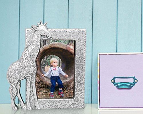Frame Giraffe (Arthur Court Designs Aluminum 4x6 Giraffe Picture Frame)