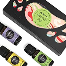Edens Garden Intro To Essential Oils Set, 100% Pure Therapeutic Grade Aromatherapy Oils, Lemon, Lavender And Peppermint, 3/ 10 mL