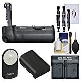 Canon BG-E21 Battery Grip for EOS 6D Mark II DSLR Camera with LP-E6 Battery & Dual Charger + Remote + Cleaning Kit