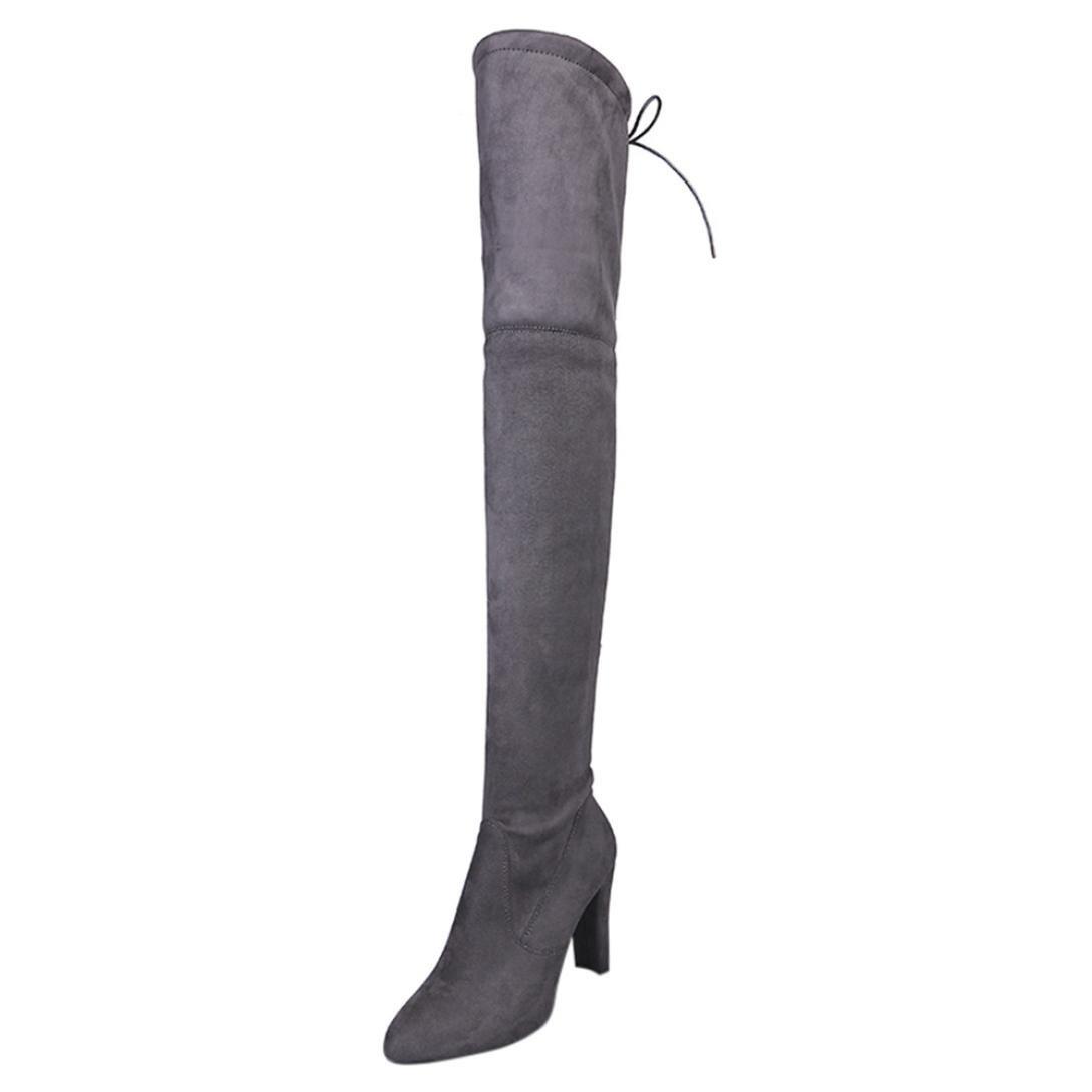 Bottes Femme SHOBDW Bottines Gris B00ZP324CO Talons Hauts Femme Faux Warm Boots Martin Sur les bottes au genou Chaussures Noir Gris Rouge Gris 4129b27 - fast-weightloss-diet.space