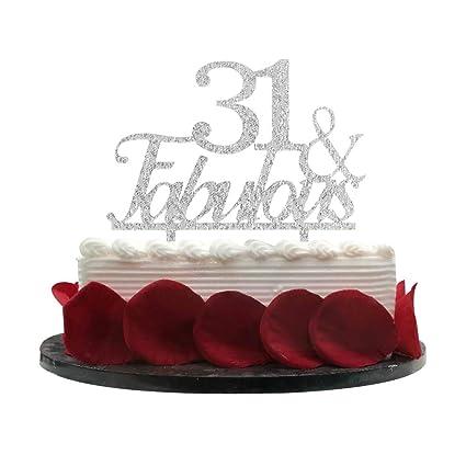 Decoración para tarta de 31 y 31 cumpleaños, decoración para ...